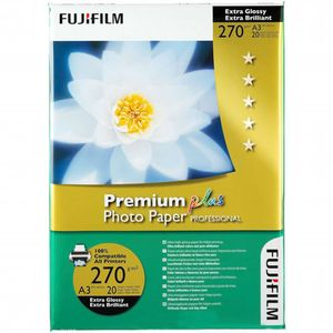 Fujifilm Premium Plus Professional Extra Glossy A4 Photo Paper 270g - 20 Sheets