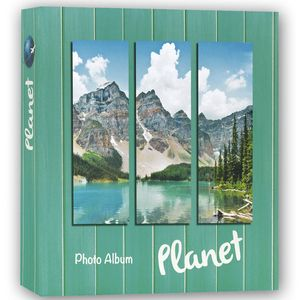 Planet Green 6.5x4.5 Slip In Photo Album - 200 Photos Overall Size 9.5 x 9""