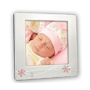 Cornice Pink Silver Plated 4.25x4.25 Photo Frame