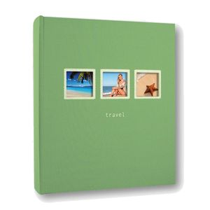 Positano 7.5x5 Slip In Green Photo Album 200 Photos