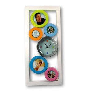 Bubble Multi Photo Frame and Clock