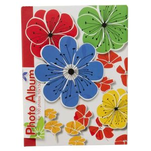 Carnival Flowers Blue 6x4 Slip In Photo Album - 100 Photos