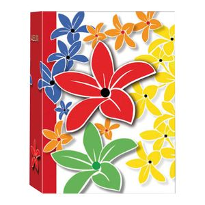 Carnival Flowers Red 6x4 Slip In Photo Album - 100 Photos
