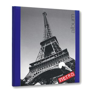 Iconic City Paris Traditional Blue Photo Album - 30 Sides
