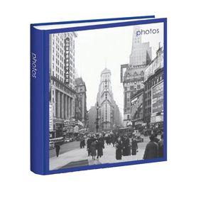 Iconic City New York Blue Traditional Photo Album - 30 Sides