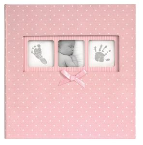 Baby Polka Dot Pink Slip In 6x4 Photo Album - 200 Photos