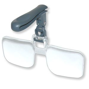 Green Clean Clip and Flip Hands Free Magnifier