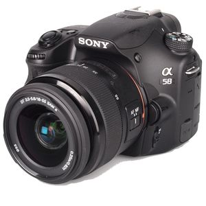 Sony Alpha A58 Black Digital Camera & DT 18-55mm Lens