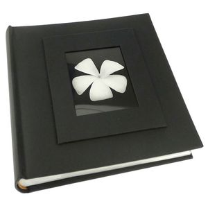 Buckram Black 6x4 Slip In Photo Album - 200 Photos