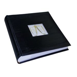Black Satin 6x4 Slip In Wedding Photo Album - 200 Photos
