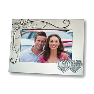 Grace Silver Linked Hearts 6x4 Wedding Photo Frame