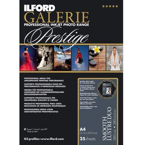 Ilford Galerie Prestige Smooth Lustre Duo Paper 280gsm A4 - 100 Sheets