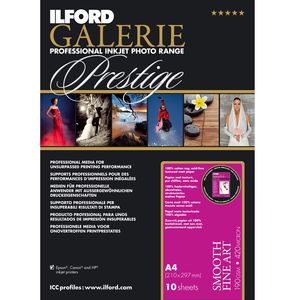 Ilford Galerie Prestige Smooth Fine Art Paper 190gsm A4 - 10 Sheets