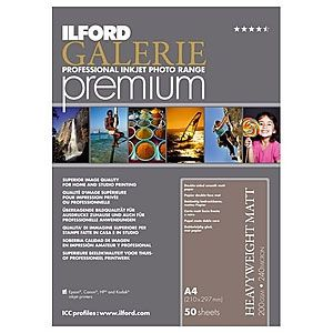 Ilford Galerie Premium Smooth Heavyweight Matt Paper 200gsm A4 - 50 Sheets