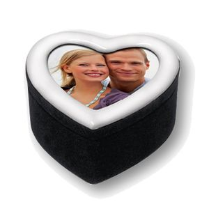 White Heart Small Gift Box with Photo Frame