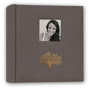 Taormina Brown 6.5x4 Slip In Photo Album - 200 Photos Overall Size 8.5x9.25""