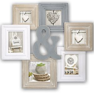 Chamboard Multi Aperture Photo Frame for 6 Photos