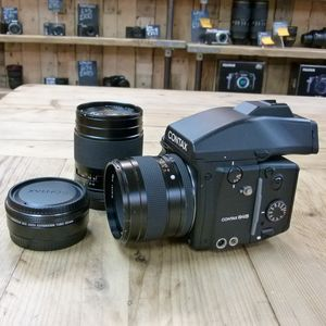 Used Contax 645 AF Medium Format Camera with Zeiss 80mm , 45mm  & Auto Ext Tube 26mm