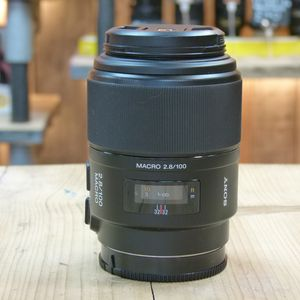 Used Sony AF 100mm F2.8 Macro Lens for A - mount