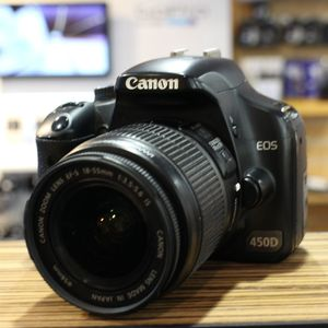 Used Canon EOS 450D D-SLR Camera with 18-55mm IS Lens