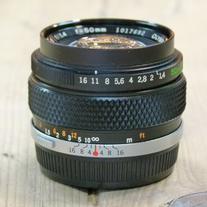 Used Olympus MF 50mm F1.4 Zuiko Lens