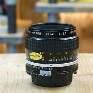 Used Nikon MF 55mm F3.5 Micro Ai Lens