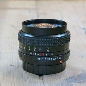 Used Carl Zeiss Jena DDR 50mm F1.4  Lens in Praktica bayonet fit