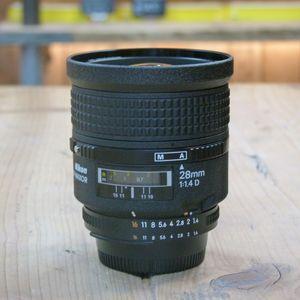 Used Nikon AF 28mm F1.4 D Lens (Rare Lens)
