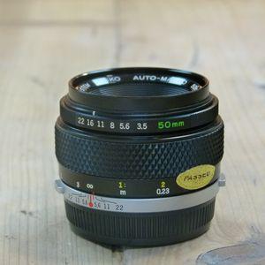 Used Olympus MF 50mm f3.5 Zuiko Macro Lens