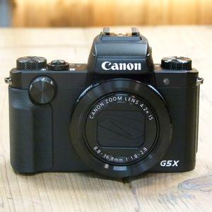 Used Canon PowerShot G5X Black Digital Camera
