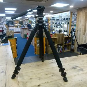 Used Slik Pro 400DX Tripod Legs with Manfrotto 700RC2 Head