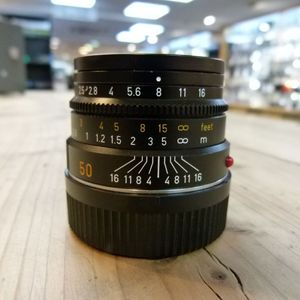 Used Leica M 50mm F2.5 Summarit Black Lens 11644