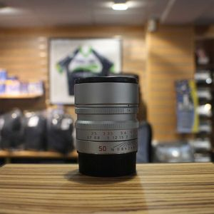 Used Leica M 50mm F1.4 Summilux ASPH 6-Bit Coded Silver Lens 11892