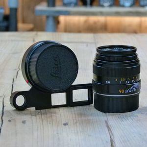 Used Leica M 90mm F4  Elmar Macro lens  with Macro Adapter-M 11629 Macro-Set M