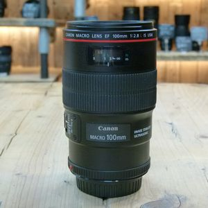 Used Canon EF 100mm f2.8 L Macro IS USM Lens
