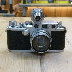 Used Leica IIIF 35mm Camera with 5cm F2 Summitar Lens & VIDOM Viewfinder