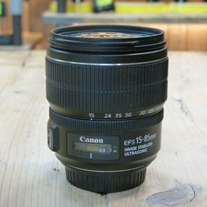 Used Canon EF-S 15-85mm F3.5-5.6 IS USM Lens