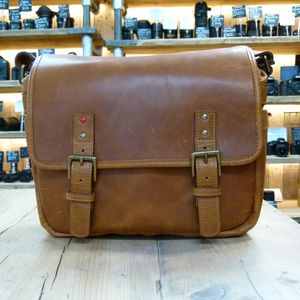 Used ONA Berlin II Leather Vintage Bourbon Messenger Bag
