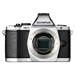 Olympus OM-D E-M5 Silver Digital Camera Body Only inc FL-LM2 Flash