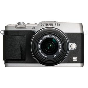 Olympus PEN E-P5 Silver Digital Camera Body with 14-42mm Lens