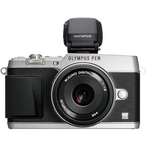 Olympus PEN E-P5 Silver Digital Camera with 17mm 1:1.8 Lens & VF-4