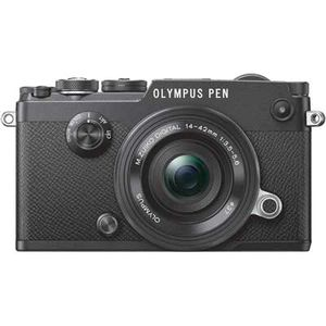 Olympus PEN-F Black Digital Camera with 14-42mm EZ ED Lens