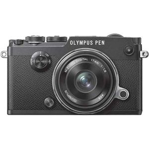Olympus PEN-F Black Digital Camera with 17mm ED Lens