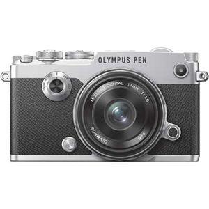 Olympus PEN-F Silver Digital Camera with 17mm ED Lens