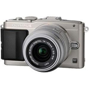 Olympus PEN E-PL5 Silver Digital Camera Body with 14-42mm II R Lens