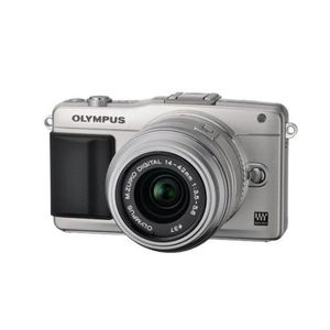 Olympus PEN E-PM2 Silver Digital Camera Body with 14-42mm II R Lens
