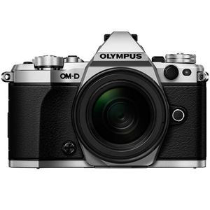 Olympus OM-D E-M5 Mark II Silver Digital Camera and EZ 12-50mm Lens