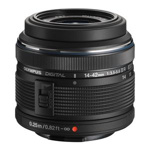 Olympus 14-42mm f3.5-5.6 II R M.ZUIKO Black Digital Micro Four Thirds Lens