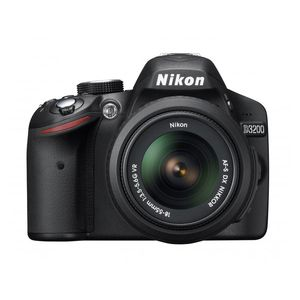 Nikon D3200 Black Digital SLR Camera and 18-55mm VR Lens Kit