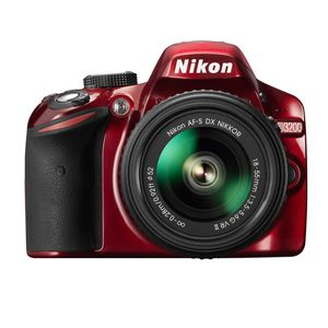 Nikon D3200 Red Digital SLR Camera and 18-55mm VR II Lens Kit